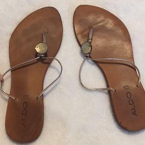 Aldo tan jewel sandals size 38